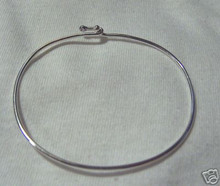 """sizes 5"""", 6"""", 6.5"""", 7"""", 7.5"""",  7.75"""", 8"""", or 8.5"""" Sterling Silver Wire Charm Bracelet"""