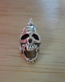3D Movable Skull Skeleton Sterling Silver Charm