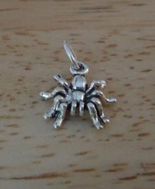 Tiny 13x12mm Spider Tarantula Sterling Silver Charm