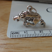 16x22mm University of Arkansas Wild Hog Razorback Sterling Silver Charm