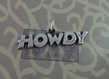 6x24mm Sterling Silver says HOWDY Aggie Texas A&M University ATM Charm