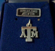 14x13mm Texas A&M University ATM Aggie Sterling Silver Charm