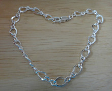 """Sterling Silver sizes 6"""" to 10"""" Figure 8 Link 5.5 mm Charm Bracelet"""