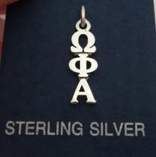 Sterling Silver Greek Sorority Omega Phi Alpha Lavalier Charm