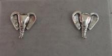 Sterling Silver Small 11x11mm Elephant Head Stud Studs Posts Earrings