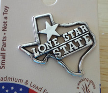 Sterling Silver Says Lone Star State on Texas Skat Tie Tack Lapel Pin