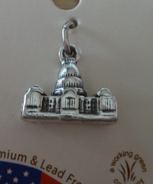 13x12mm 3D Sterling Silver Texas Capitol Building in Austin the Capital Charm