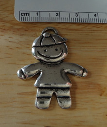 Large 39x32mm Whimsical Pewter Boy Son Grandson Male Child Charm