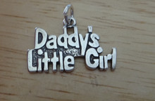 14x20mm Father Dad Daughter says Daddy's Little Girl Sterling Silver Charm