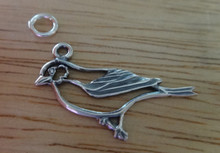 26x20mm outline Robin Song Bird Animal Sterling Silver Charm