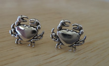 Sterling Silver TINY 9x10mm Crab Zodiac Cancer Studs Stud Earrings