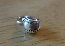 3D 6mm solid Baseball Softball Ball Sterling Silver Charm