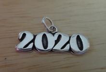 Sterling Silver 10x22mm College High School Graduation 2020 Horizontal Charm