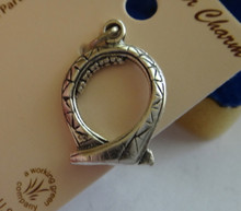 Sterling Silver 3D 20x14mm solid Amusement Park Roller Coaster Loop Charm!