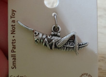 Sterling Silver 3D 8x25mm Cricket Grasshopper Bug Insect Charm