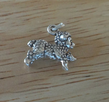 Sterling Silver 3D 11x14mm Solid Lamb Sheep Charm