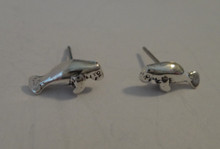 TINY 5x11mm Sterling Silver Manatee Stud Studs Earrings! Very cute!