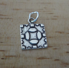 Sterling Silver 15x11mm Quilt Block Sewing Quilting Charm