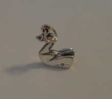 Sterling Silver 3D small version 16x12mm Modern Japanese Origami Swan Charm!