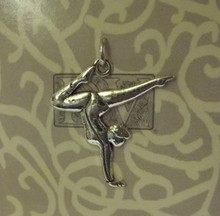 Lg Detail Floor Exercise Gymnastics Sterling Silver Charm!