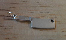 Sterling Silver 22x9mm Meat Cleaver Kitchen Knife Charm
