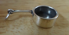 Sterling Silver 25x13mm Sauce Pan Cooking Pot with Long Handle Charm
