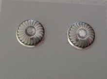 Sterling Silver Southwest design 11mm Round Stud Post Earrings