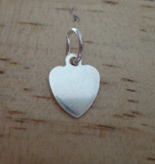 Sterling Silver TINY flat 10x8 mm Engravable Heart Charm
