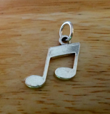 Sterling Silver 20x17mm Music Notes Charm