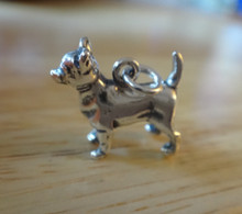 Sterling Silver 3D 15x15mm Solid 4 gram Chihuahua Dog Charm!