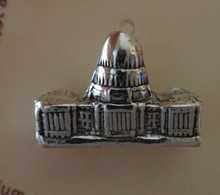 Sterling Silver 3D 9x15mm United States Capitol Building Washington DC Tie Tack