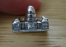 Sterling Silver 3D 10x13mm Texas Capitol Building in Austin the Capital Tie Tack
