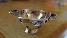 Sterling Silver 25x13mm Colander Strainer Cooking with 2 Handles Charm