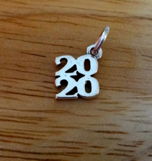 Sterling Silver 10x11mm Stacked College High School Graduation 2020 Charm