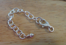 """Sterling Silver 6 cm or 2.25"""" Extension Chain & Balloon Lobster clasp to connect"""