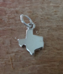 Sterling Silver TINY 8x12mm State of Texas Charm