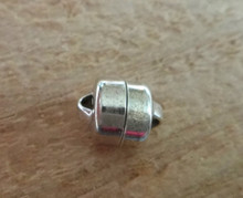 Sterling Silver 8x10mm Round Strong Magnetic Clasp Finding bracelet or necklace