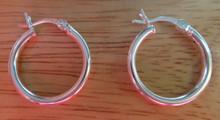 Sterling Silver 18 mm Diameter 2 mm thick Hoop Earrings