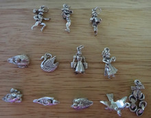 37 gram Set of All 12 Days of Christmas Large Heavy Sterling Silver Charms