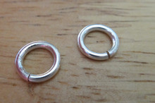 4 Sterling Silver 9mm 16 gauge strong Jump rings to add to Charm Bracelet Chains