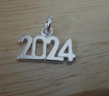 Sterling Silver 15x10mm College High School Graduation Year 2024 Horizontal Charm