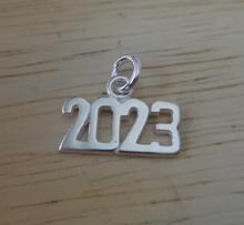 Sterling Silver 14x10mm College High School Graduation Year 2023 Horizontal Charm