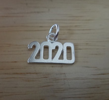 Sterling Silver 15x10mm College High School Graduation 2020 Horizontal Charm