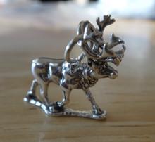 Sterling Silver 3D 17x20mm 4 gram Realistic Caribou Elk Deer Charm