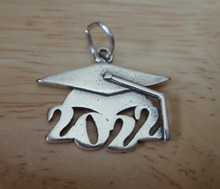 Sterling Silver 16x19mm College High School Graduation 2022 with Cap Charm