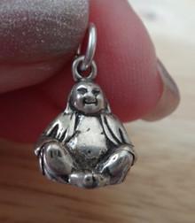 Sterling Silver 11x13mm Religious Buddhist Buddha Charm