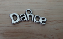 Silver Pewter 9x20mm says Dance Charm!