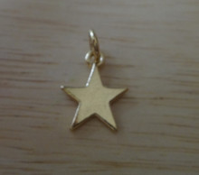 14 Kt Gold Vermeil over Sterling Silver 5 point Star Charm