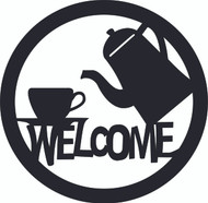 Welcome Sign Coffee Cup