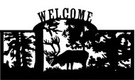 Welcome sign, Caribou Standing